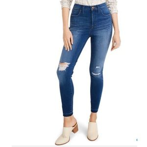 Madewell Ripped 10in High Waist Skinny Jean